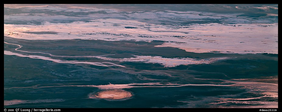 Salt flat seen from above. Death Valley National Park (color)