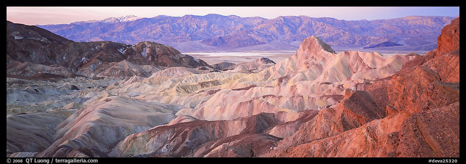 Colorful badlands from Zabriskie Point. Death Valley National Park (color)