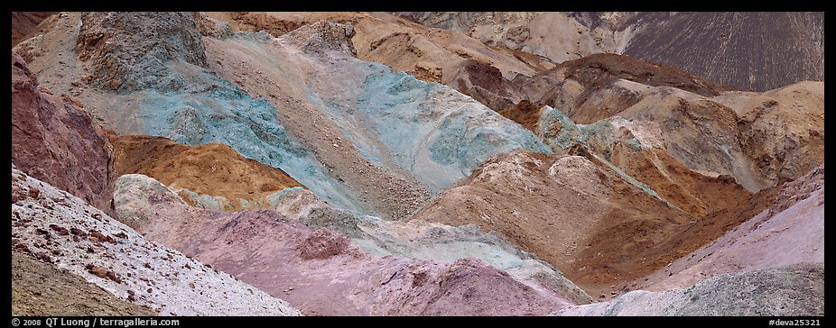 Multicolored rocks, artist's palette. Death Valley National Park (color)
