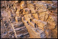 Polyedral rock patterns, Mosaic canyon. Death Valley National Park, California, USA.