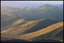 Tucki Mountains in haze of late afternoon. Death Valley National Park, California, USA. (color)