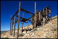 Cashier mine near Eureka mine, morning. Death Valley National Park, California, USA. (color)