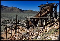 Cashier's mine in the Panamint Mountains, morning. Death Valley National Park, California, USA. (color)