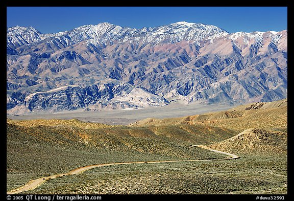Mountains above Emigrant Pass. Death Valley National Park (color)