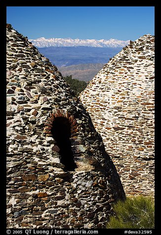Charcoal kilns with Sierra Nevada in backgrond. Death Valley National Park (color)