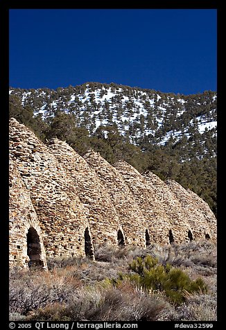 Wildrose charcoal kilns, in operation from 1877 to 1878. Death Valley National Park (color)