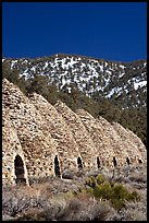 Wildrose charcoal kilns, in operation from 1877 to 1878. Death Valley National Park, California, USA. (color)