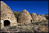 Wildrose charcoal kilns, considered to be the best surviving examples found in the western states. Death Valley National Park, California, USA.