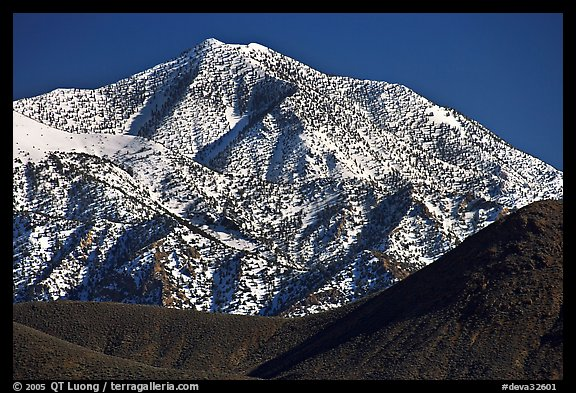 Telescope peak seen from Emigrant Pass. Death Valley National Park (color)