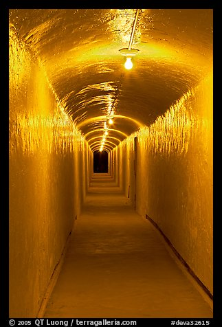 Access tunnel to Furnace Creek Inn by night. Death Valley National Park, California, USA.