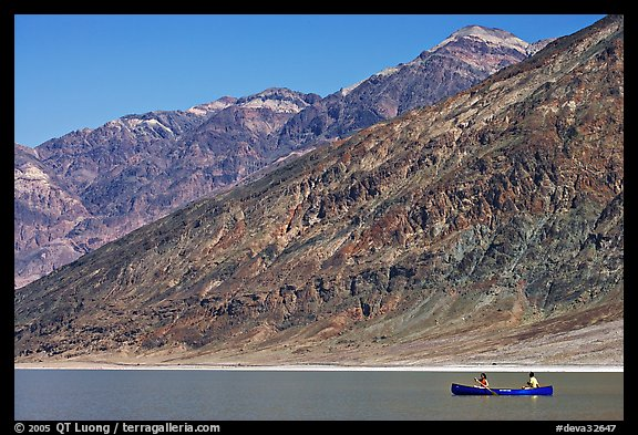 Canoe and Black Mountains. Death Valley National Park, California, USA.