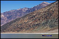 Canoe and Black Mountains. Death Valley National Park, California, USA. (color)
