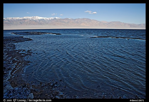 Flooded Badwater basin, early morning. Death Valley National Park, California, USA.