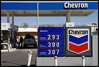 Gas priced above 3 dollars, Furnace Creek. Death Valley National Park, California, USA. (color)
