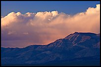 Clouds and mountains at sunset. Death Valley National Park, California, USA.