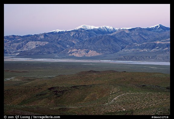 Panamint Valley and Panamint Range, dusk. Death Valley National Park (color)