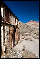 Shack in Leadfield ghost town. Death Valley National Park, California, USA. (color)