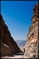 Mouth of Titus Canyon and valley. Death Valley National Park, California, USA. (color)