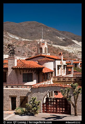 Scotty's Castle. Death Valley National Park (color)