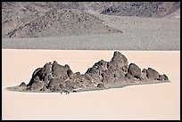 Grandstand and Racetrack playa. Death Valley National Park, California, USA. (color)
