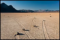 Sailing rocks, the Racetrack playa. Death Valley National Park ( color)