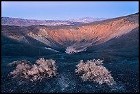 Ubehebe Crater at twilight. Death Valley National Park ( color)