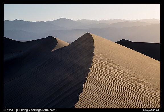 Dune ridges and Panamint Range. Death Valley National Park (color)