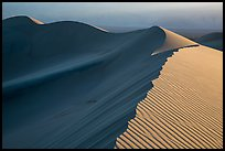 Dune ridges at sunset. Death Valley National Park ( color)