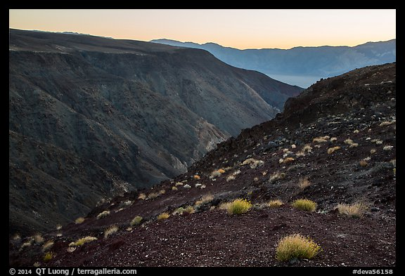 View from Father Crowley Viewpoint at sunrise. Death Valley National Park (color)
