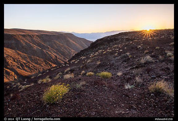 Sunrise, Father Crowley Viewpoint at sunrise. Death Valley National Park (color)