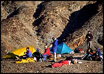 Group at backcountry camp. Death Valley National Park ( color)