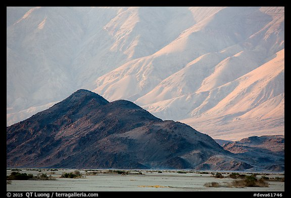 Hill and mountains, Panamint Valley. Death Valley National Park (color)
