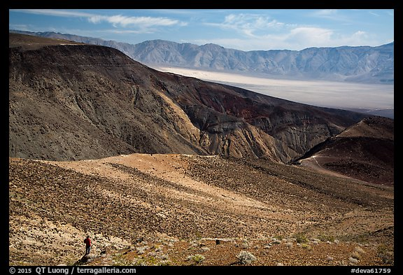 Visitor looking, Panamint Valley. Death Valley National Park (color)