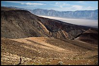 Visitor looking, Panamint Valley. Death Valley National Park ( color)