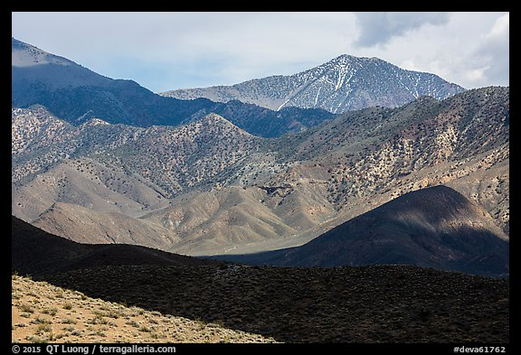 Telescope Peak rising above Emigrant Mountains. Death Valley National Park (color)