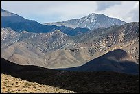 Telescope Peak rising above Emigrant Mountains. Death Valley National Park ( color)