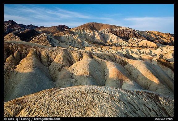 Twenty Mule Team Canyon badlands. Death Valley National Park (color)