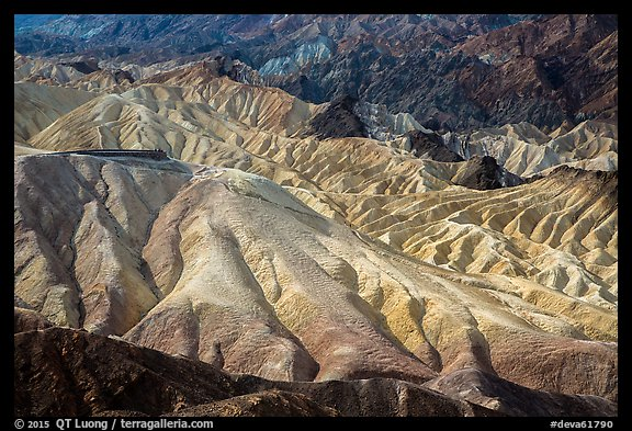 Zabriskie Point observation platform. Death Valley National Park (color)