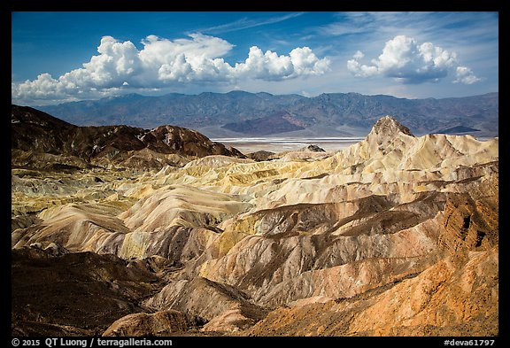 Manly Beacon and badlands near Zabriskie Point. Death Valley National Park (color)