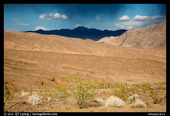 Black Mountains near Jubilee Pass. Death Valley National Park (color)
