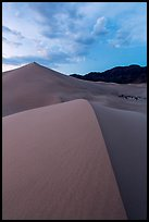 Ibex dunes field at dusk. Death Valley National Park ( color)