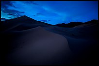 Ibex Sand Dunes at night. Death Valley National Park, California, USA.
