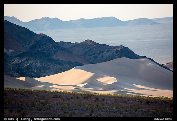 Ibex Dunes, mountains and valleys. Death Valley National Park (color)