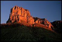 El Capitan from Guadalupe Pass, sunrise. Guadalupe Mountains National Park, Texas, USA. (color)