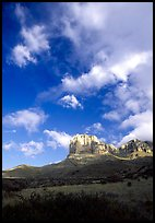 El Capitan and clouds. Guadalupe Mountains National Park, Texas, USA. (color)