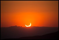 Sunset, May 20 2012 solar eclipse. Guadalupe Mountains National Park ( color)