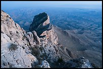 El Capitan from Guadalupe Peak at dusk. Guadalupe Mountains National Park ( color)