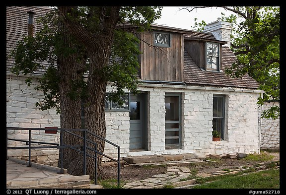 Frijole Ranch historic museum. Guadalupe Mountains National Park (color)