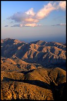 Keys view, sunset. Joshua Tree National Park, California, USA. (color)