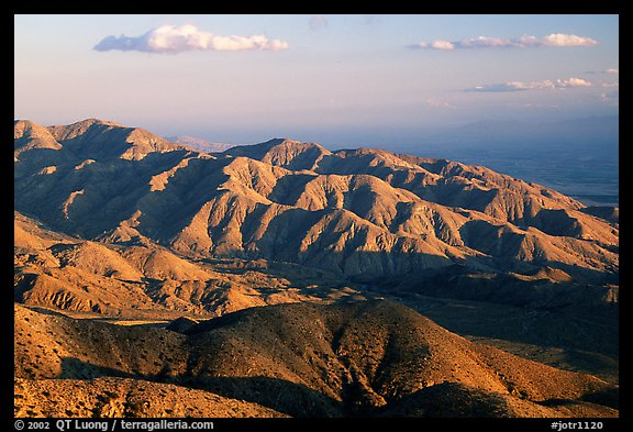 Keys view, sunset. Joshua Tree National Park (color)